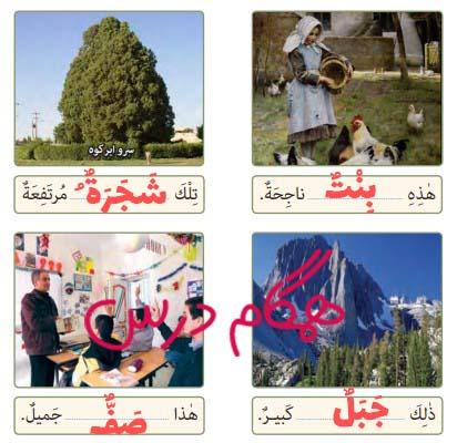 جواب صفحه 15 عربی هفتم