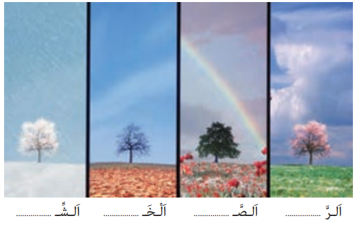 نام هر فصل را بنویسید.