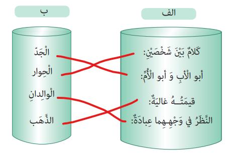 جواب صفحه 40 عربی هفتم