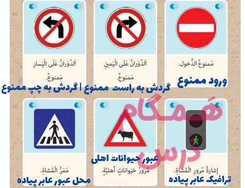 ترجمه صفحه 24 عربی نهم