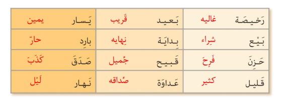 جواب صفحه 13 عربی نهم