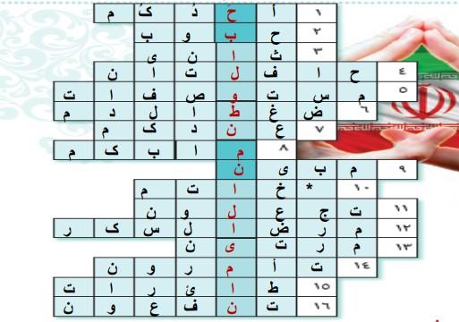 رمز صفحه 70 عربی هشتم