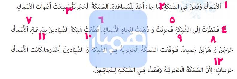 معنی صفحه 73 عربی هفتم