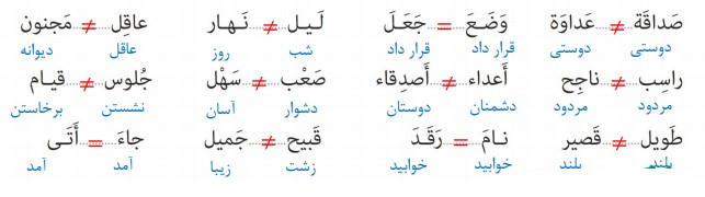جواب صفحه 78 عربی نهم