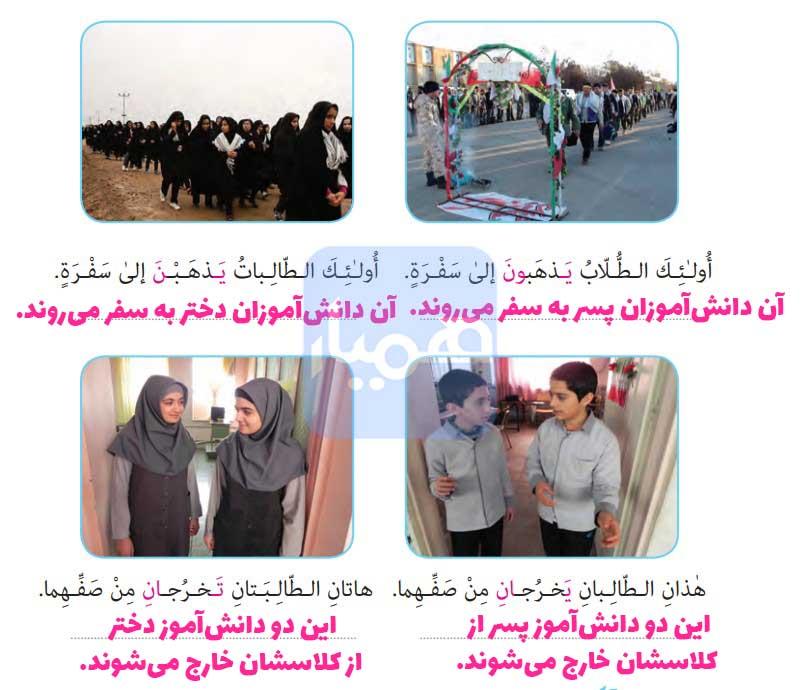مجله های زیر را با توجه به تصویر ترجمه کنید.