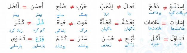 جواب صفحه 99 عربی نهم