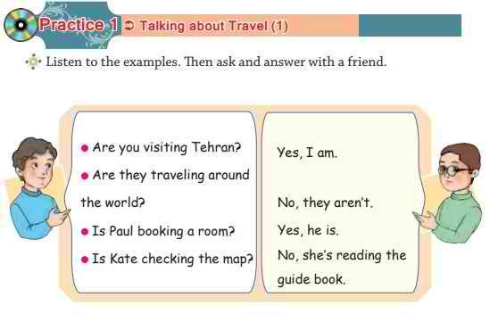 ترجمه تمرین 1 درس اول زبان نهم